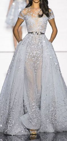 Zuhair Murad. For once a runway coture dress I like! Too bad I'd never have the body guts or place to wear that