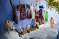 The Chefchaouen city of Morocco is a amazing place to visit because it unique and full of beautiful sites. The blue of the city comes from the belief of the Julie Hall, Blue City, The Good Place, Blues, Blue And White, Colours, Display, Country, Morocco Chefchaouen