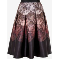 Ted Baker Fan Ombré full midi skirt (3,845 MXN) ❤ liked on Polyvore featuring skirts, bottoms, pleated skirt, knee length pleated skirt, mid calf skirts, patterned skirts and print skirt