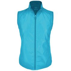 "Monterey Club Ladies Lightweight Double back Firework Foil Vest #2781 (Bluebird, 2X-Large). 100%Polyester. Foil dot solid fabric with rib armhole detail. Similar vest version 2771. Top foil dot3/4 sleeve version 2318, short sleeve version 2441 and contrast version 2305. Chest: 25"",Waist: 24"",Open hem: 26.5"", All measurement is approximate, -/+ 1/2"" is manufacturing standard. Monterey Club is well known for the quality in the golf industry since 1987. Products are sold in all 50 states..."