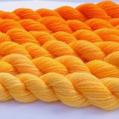 Bright Yellow Orange Gradated Yarn Set via Etsy Mellow Yellow, Orange Yellow, Orange Color, Orange Shades, Orange Twist, Bright Yellow, Orange Aesthetic, Aesthetic Colors, New Hair Cut Style