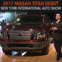 2017 Nissan TITAN Crew Cab debuts at New York International Auto Show. #BestTruck #Titan SEE MORE: http://www.mossynissan.com/blog/2017-nissan-titan-crew-cab-powered-by-5-6-liter-v8-engine-debuts-at-new-york-international-auto-show
