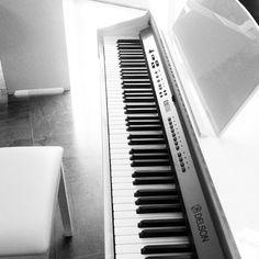 Hello #PLANETEIG ! Belle journée à vous (sous la neige pour la plupart). Pour ma part je vais me remotiver et me plonger dans le boulot... ou apprendre à jouer du #piano ! Celui ci est tellement beau que ça me donne envie :) #musique #blackandwhite #noiretblanc #whitebird #goldfishgangblog