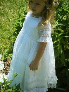 6c8078305a3ae child s version of Wendy Schoen s Martha s Diagonal Lace Christening Gown.  Joy Craft · Lexi Lou s Wardobe