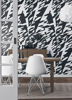 Wallpapers by Scandinavian designers is a unique collection in which we put classic Scandinavian designs on the walls. We are therefore very proud to be able to offer wallpaper with a timeless design history with which to decorate the walls. Scandinavia Design, Interior Architecture, Interior Design, Black And White Wallpaper, Black White, Decorative Panels, New Wallpaper, Amazing Wallpaper, White Houses