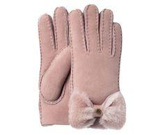 Lammfell-Handschuhe Bow