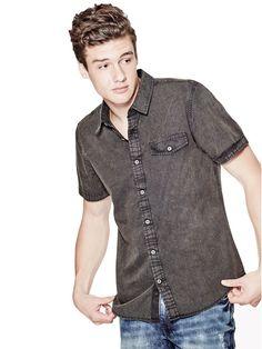 Volund Pigment-Dyed Slim-Fit Poplin Shirt
