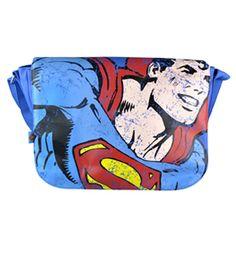 Retro Superman Figure PU Shoulder Bag : TruffleShuffle.com