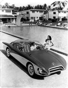 1956 Buick Centurion, concept car prototype aerodynamic streamlined futuristic retro