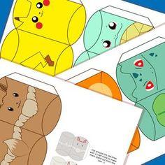 Pokemon inspirado cajas almohada descarga por MissFrightsDelights