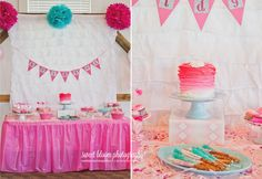 Bridgets Pink Ombre Party 1stbirthday Pinkombre Sweetbloomphotography Dayton Ohio 1st Birthday Photographer