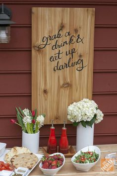 Precious! Natural wood and calligraphy are a lovely combination. Welcome guests with a custom wooden sign like this one by @Carrie Mcknelly Waller of Dream Green DIY.
