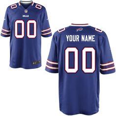 0101f3f91 Men s Nike Buffalo Bills Customized Game Team Color Jersey (S-4XL) - NFLShop