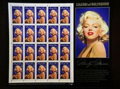 Marilyn Monroe Full Sheet of 20 UNused Vintage US Postage Stamps 1995 Legends of Hollywood Valentine's Save the Date Wedding Postage Save The Date Stamp, Save The Date Postcards, Old Saybrook, Commemorative Stamps, Friendly Letter, Wedding Postage, Gentlemen Prefer Blondes, Some Like It Hot, Norma Jeane