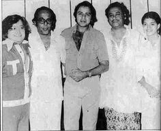 With Bappi Lahiri, Vinod Mehra, Sarika.