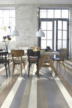 striped painted floorboards - Google Search