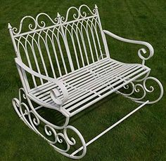 this rocks victorian style metal garden rocking chair in a