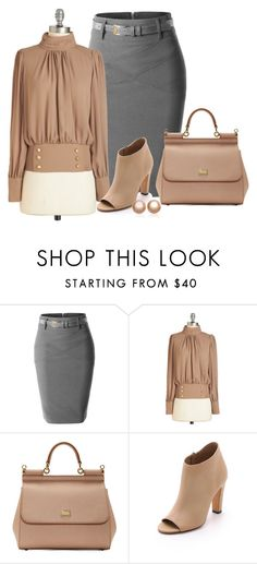 """""""Midi Skirt"""" by malathik ❤ liked on Polyvore featuring LE3NO, Dolce&Gabbana, Vince and Amour de Pearl"""