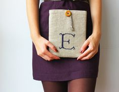 Initial iPad case Monogrammed iPad case Tablet case by GalaBorn, $63.00