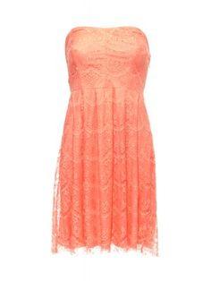 Vila dress rection warm coral