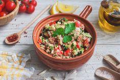 9 laktató saláta rizs és krumpli helyett | Mindmegette.hu Pasta Salad, Quinoa, Vegetarian, Ethnic Recipes, Hungarian Recipes, Bulgur, Crab Pasta Salad