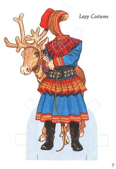 Little Swedish Girl Paper Doll by Tom Tierney, Dover Publications of Paper Art, Paper Crafts, Swedish Girls, Reindeer Craft, Thinking Day, Vintage Paper Dolls, Samar, Barbie, Paper Toys