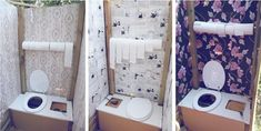Rendre des toilettes sèches jolies, c'est possible ! Cabinets toilettes sèches homemade mariage dmes.fr