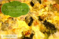 Easy recipe for Broccoli and cauliflower bake. Low carb and nutritious. Helps to get your children to eat their veggies. Gluten free, low car, LCHF, HFLC, Banting and primal.   ditchthecarbs.com