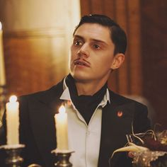 """""""Pull the trigger and take her last breath. It's exhilarating."""" #ahshotel #March #real #dandy #psychopath #devil #gorgeus"""