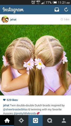 Double dutch braids to pigtails