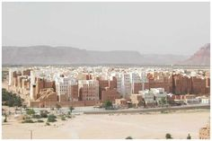 Shibam: ancient town in Yemen  All houses are made out of mud brick and some of them rises upto 10-16 stories high....