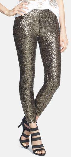 Shimmery sequin leggings? Yes, please!