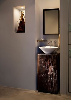 Energy Efficiency Model Home - contemporary - powder room - other metro - Mindful Designs, Inc.