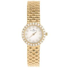 308a8e55042 Baume and Mercier Lady s Yellow Gold Diamond Quartz Wristwatch