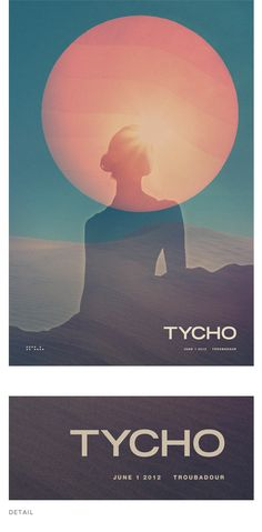 One of two new posters from Scott Hansen of ISO50 for his band Tycho.