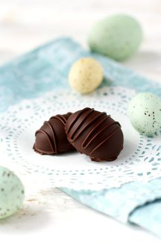 Dark chocolate caramel filled Easter eggs. Easy dairy free candy ...