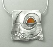 Sunset...metal clay by Hadar!