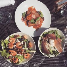 Sunny Saturday lunching on the patio! Executive Chef, Whistler, The Cure, Sunshine, Salad, Patio, Fresh, Dishes, Dining