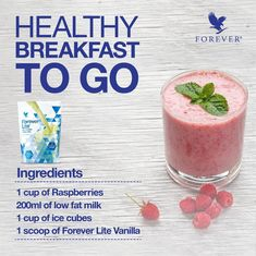 Forever Living has the highest quality aloe vera products and is recognized as the world's leading multi-level marketing opportunity (FBO) for forty years! Forever Living Company, Forever Living Business, Healthy Shakes, Protein Shakes, Healthy Drinks, Forever Living Aloe Vera, Forever Aloe, Breakfast On The Go, Healthy Smoothies