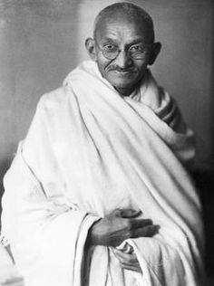 A picture of Mahatma Gandhi.
