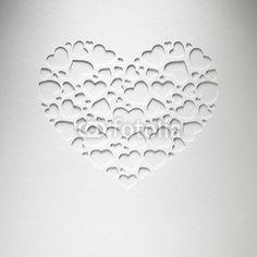 Serce dzień Valentine z małych serc na karcie papieru