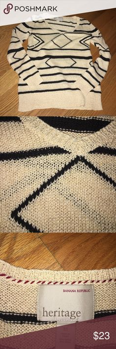 Banana Republic Tribal Sweater NWOT Banana Republic Sweaters V-Necks