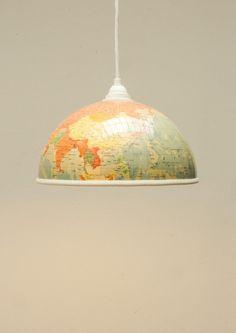 Reisefieber! Globus Lampenschirm, 21cm von westpakete via dawanda.com