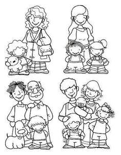 Preschool Family Theme, Preschool Art, Family Activities, Picture Comprehension, Cartoon Books, Spanish Teacher, Girls Club, Social Science, Drawing For Kids