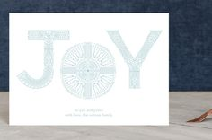 """Geo Joy"" - Holiday Postcards in sky by Phrosne Ras. Joy Holiday, Holiday Cards, Christmas Cards, Holiday Postcards, Geo, Your Cards, Christmas Holidays, Design, Christian Christmas Cards"