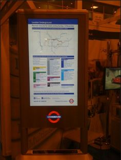 London Underground digital signage system using Zytronic's display glass.