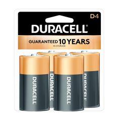 Duracell CopperTop D Alkaline Batteries - 4 Count