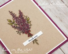 2018 Sale-A-Bration Catalog | earn FREE Stamps | Stampin' Up! | Lots of Lavender | Spring Catalog | Thank You | Handmade Cards | The Way We Stamp | Julie DeGuia