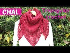 Chal triangular a crochet facil - YouTube
