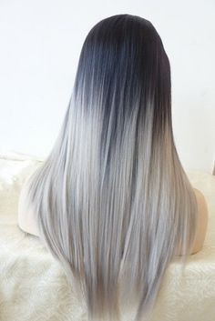 Μοναδικά Γκρι Ombre μαλλιά!!!